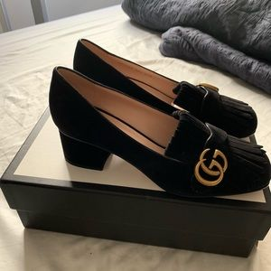 Gucci Shoes - Gucci GG Marmont Mid-Heel Pumps